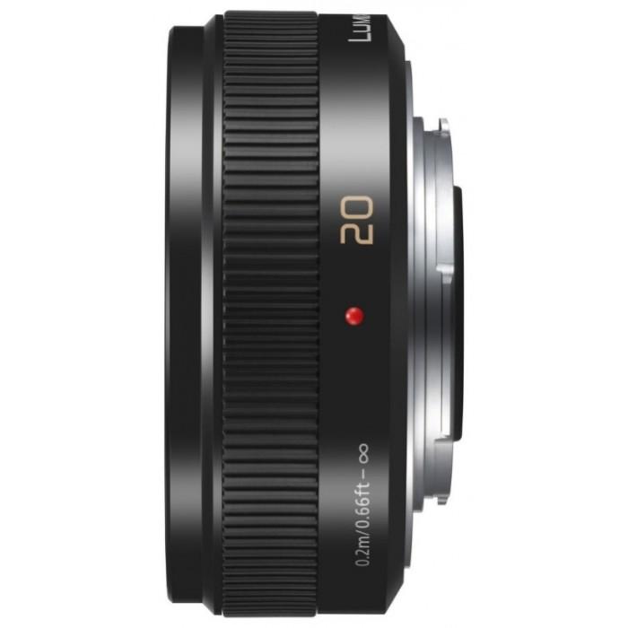 Объектив Panasonic H-H020AE-K Micro 4/3 Lens 20mm F1.7 ASPH Metal body Чёрный